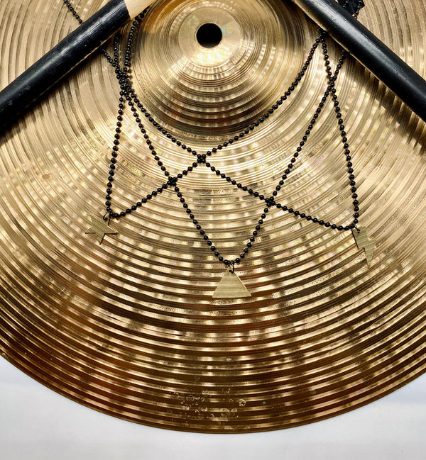 DRUM CYMBAL BALL & CHAIN NECKLACE - TRIANGLE