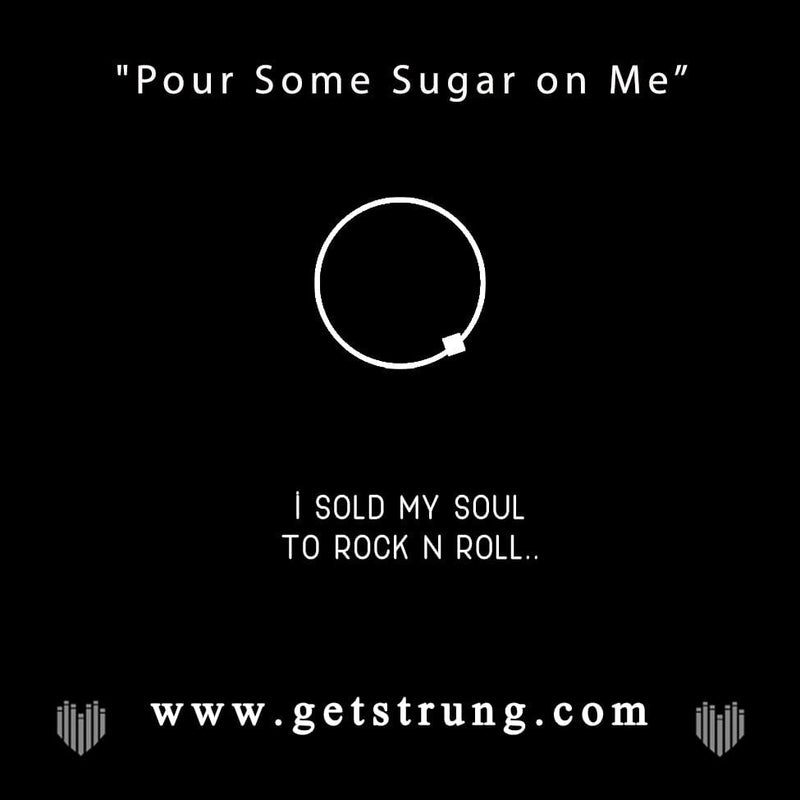 "GUITAR – ""POUR SOME SUGAR ON ME"""