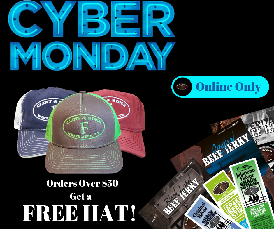 Cyber Monday Free Hat with $50 purchase