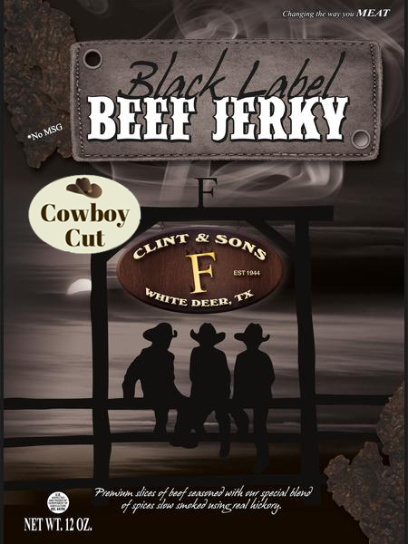 Cowboy Cut Black Label Beef Jerky