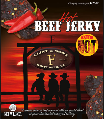 4- 3oz. Hot Beef Jerky