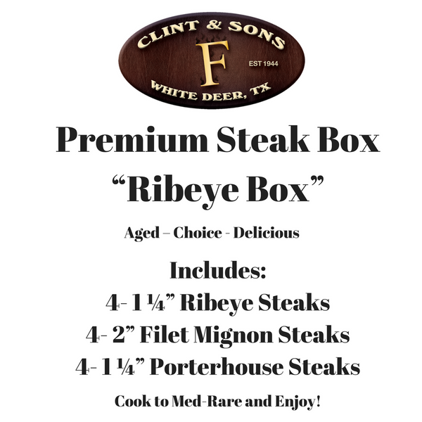 """Gold"" Steak Box"