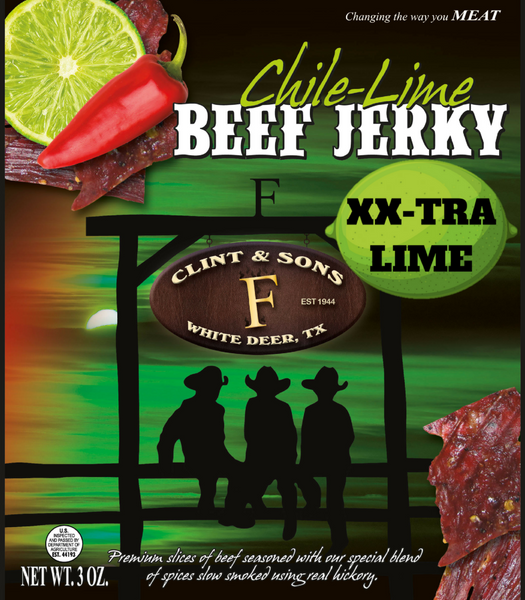 4- 3oz XX-LIME Chile Lime Beef Jerky