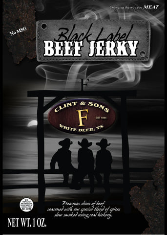12- 1oz Black Label Beef Jerky