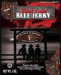 Beef Jerky - 12- 1oz Black Label Hot Beef Jerky