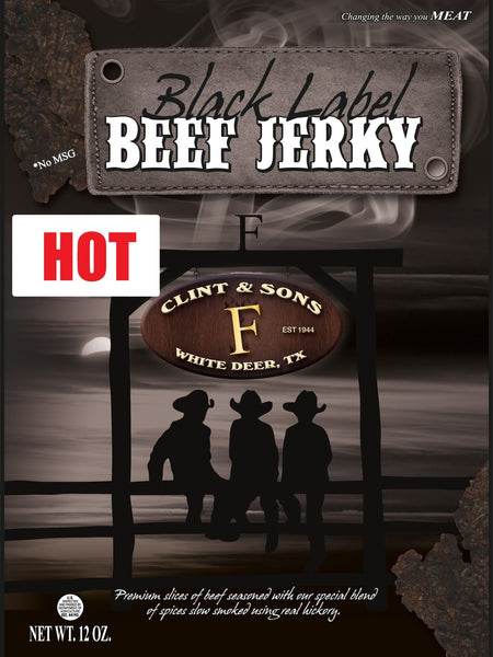 Beef Jerky - 2- 12oz Pkgs HOT Black Label