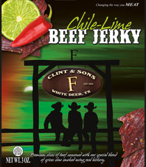 Beef Jerky - 4- 3oz Chile Lime Beef Jerky