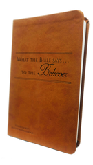 What the Bible Says to the Believer (Leatherette - Camel)