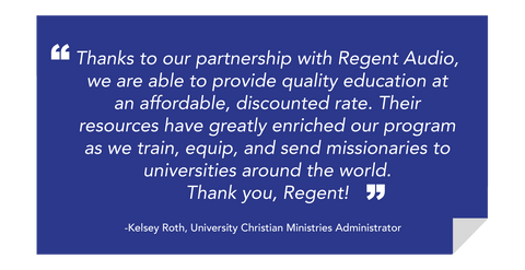 Regent Audio Ministry Partnership Program Testimonial