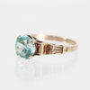 Penelope - Natural Blue Zircon 10k Yellow Gold Ring