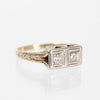 DonnaBelle - Two Diamond 14k White & Yellow Gold Ring