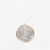 Copy of Love Token Necklace - Silver + 14k - D F T J