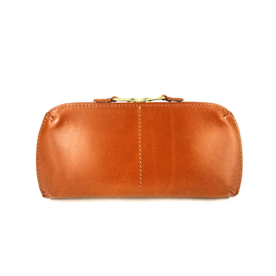 LEATHER BRIDLE PURSE tan