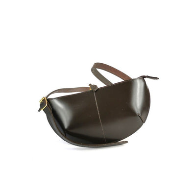 LEATHER BODYPACK BAG brown