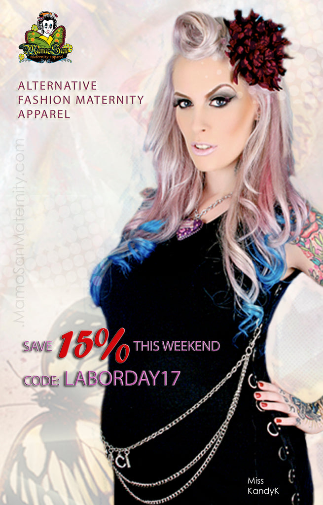Save 15% on your entire Alternative Maternity Purchase at MamaSan and MisoPunk