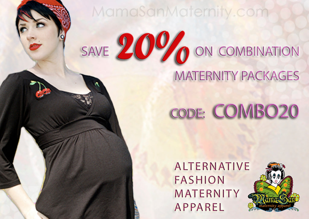 Save 20% this weekend at MamaSan Maternity Apparel