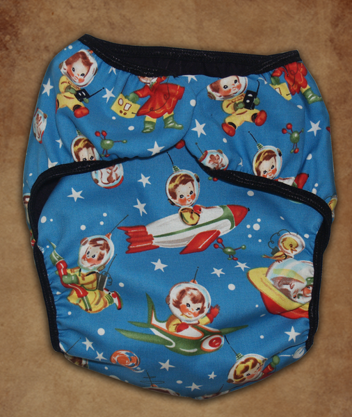 Rocket Boy Retro Diaper Cover
