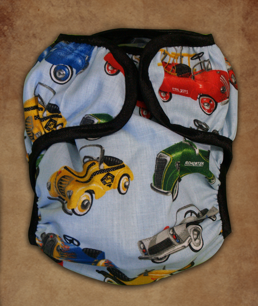 Retro Pedal Car Diaper cover