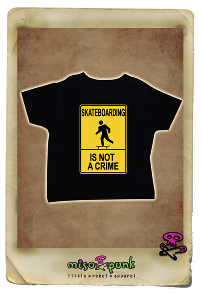 Skateboarding is Not a Crime Tee