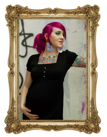 Combination Maternity Package*  Antique Skulls Dress | Pirate Punx Pink and Black Top | Black Leggings