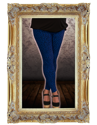 Leggings 2-Pack Black/ Blue Cheetah