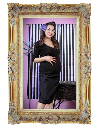 Black A-Line Maternity Skirt