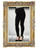 Over the Belly Adjustable Black Leggings