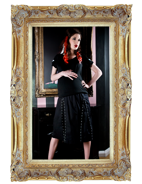 Militia Mama Pleated Grommet Skirt