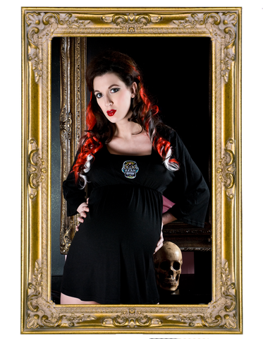Sugar Skulls Long Sleeve Maternity Top