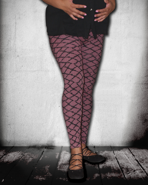 Pink Fishnet Leggings