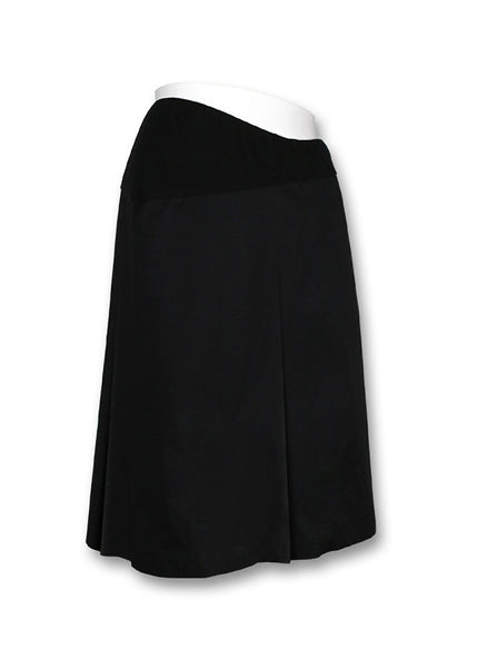 Black Pleated Maternity Skirt
