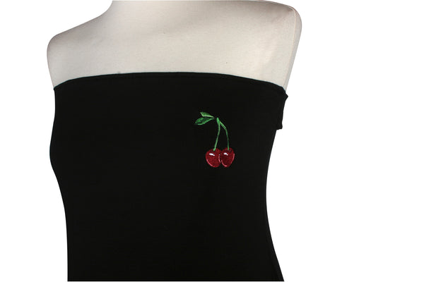 Cherry Strapless / Halter Top