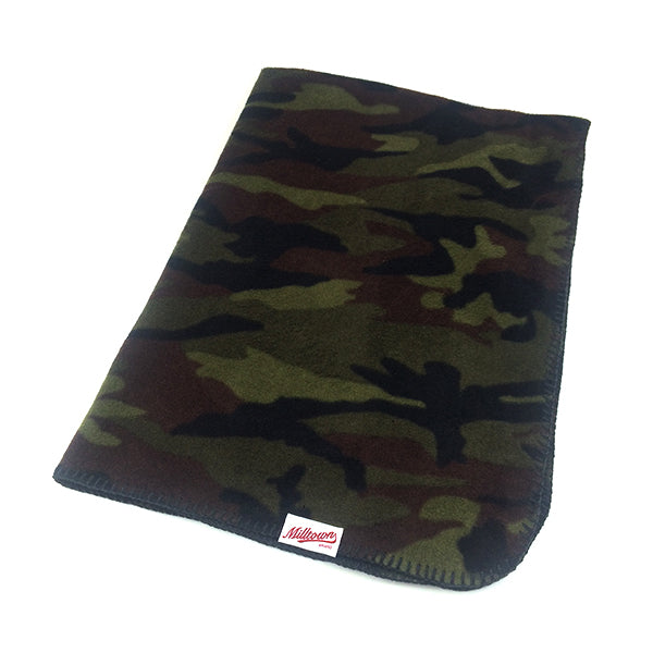 Dog Fleece Blanket - Woodland Camo