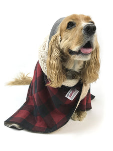 Dog Sherpa Fleece Blanket - Red Buffalo Plaid