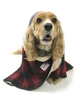 Load image into Gallery viewer, Dog Sherpa Fleece Blanket - Red Buffalo Plaid