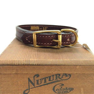 "Mendota Leather Dog Collar - Narrow (3/4"")"