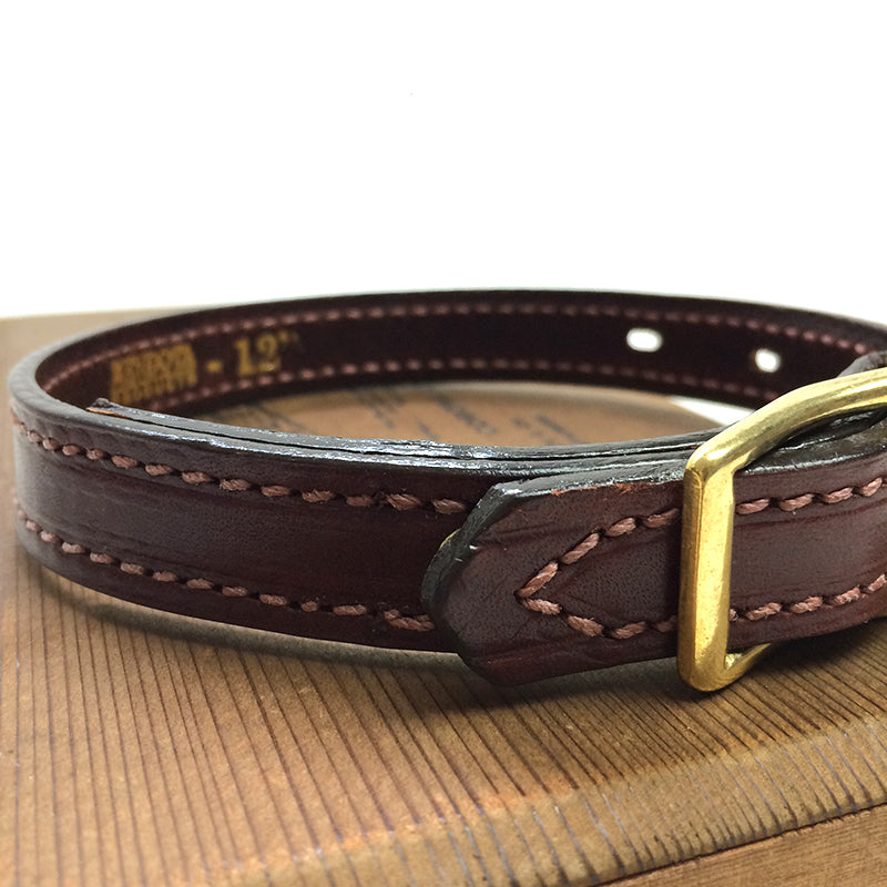 Mendota Leather Dog Collar - Narrow (3/4