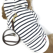 Load image into Gallery viewer, Striped Zip-Up Dog Hoodie- White