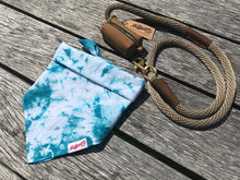 Load image into Gallery viewer, Dog Bandana  - Aqua Tie Dye