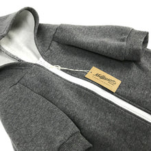 Load image into Gallery viewer, Solid Zip-Up Dog Hoodie - Charcoal Grey