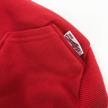 Load image into Gallery viewer, Solid Zip-Up Dog Hoodie- Vintage Red