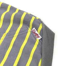 Load image into Gallery viewer, Striped Zip-Up Dog Hoodie- Grey & Yellow