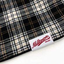 Load image into Gallery viewer, Dog Bandana - Black & Tan Plaid Flannel