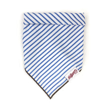 Load image into Gallery viewer, Dog Bandana  - Baby Blue Stripe