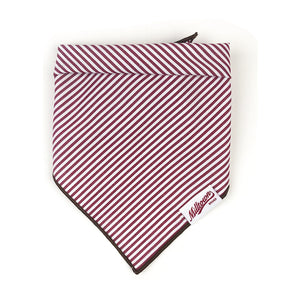 Dog Bandana - Dark Red Pin Stripe