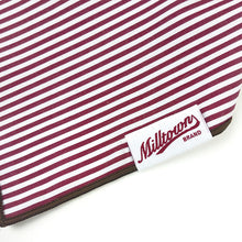 Load image into Gallery viewer, Dog Bandana - Dark Red Pin Stripe