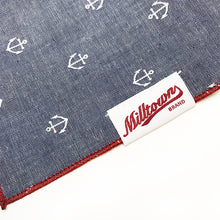Load image into Gallery viewer, Dog Bandana - Nautical Anchor Chambray