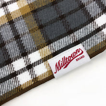 Load image into Gallery viewer, Dog Bandana - Grey Nutmeg Plaid Flannel