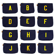 Load image into Gallery viewer, Collegiate Style Alphabet Pouch