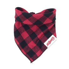 Load image into Gallery viewer, Dog Bandana  - Red Buffalo Plaid